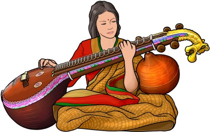 Veena training classes Skype lessons online music academy teachers India